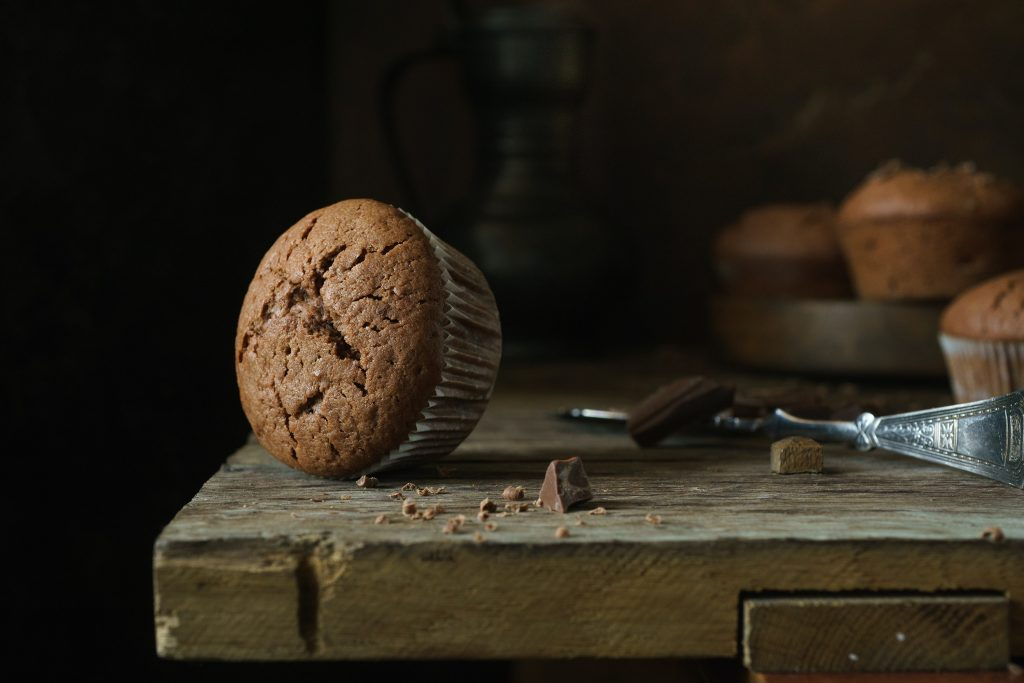 Delicious chocolate muffins.