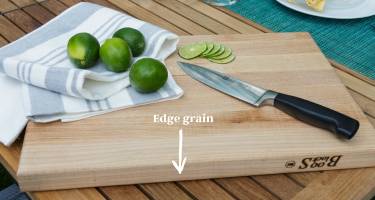 cutting board with lime