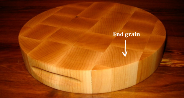 cutting board made of end grain