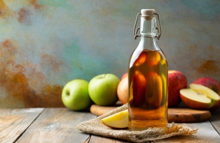 vinegar in the bottle