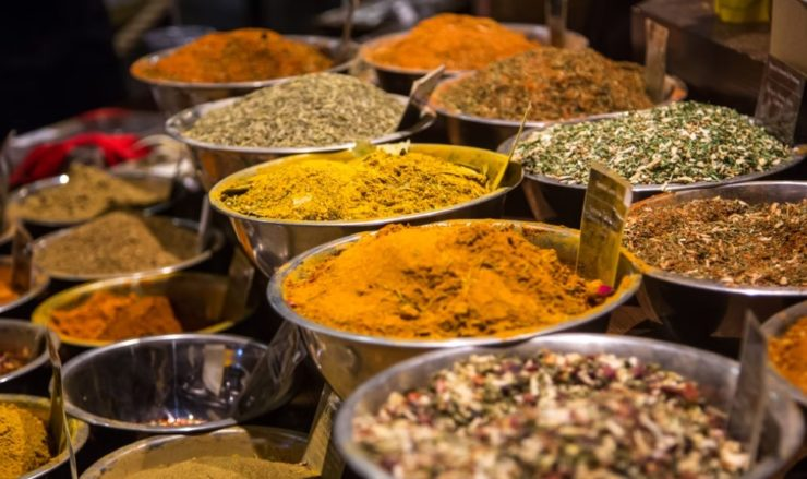 spices in bowls