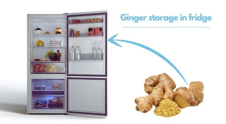 ginger in fridge