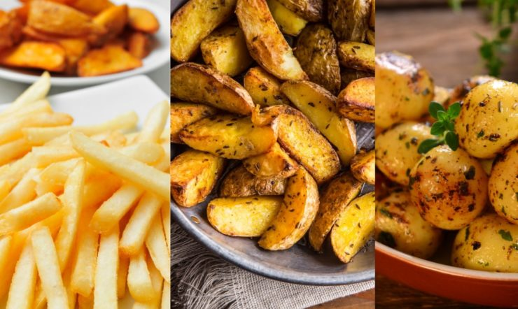 fries and baked potato